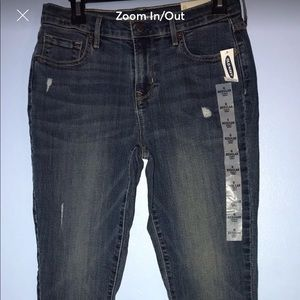 NWT OLD NAVY Curvy Skinny Med Wash Jeans Sz 6